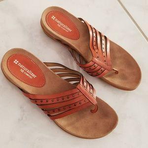 Naturalizer N5 Havaro Coral Flip Flops Sandals 8